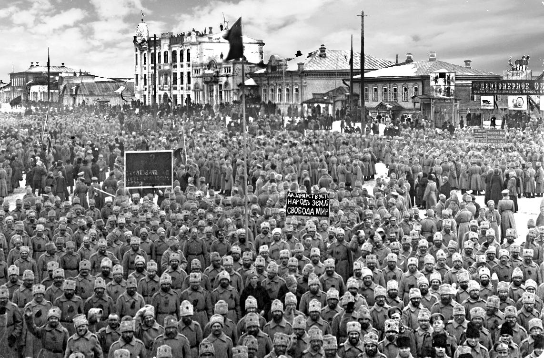 Николаевск, март 1917 года. Революция.