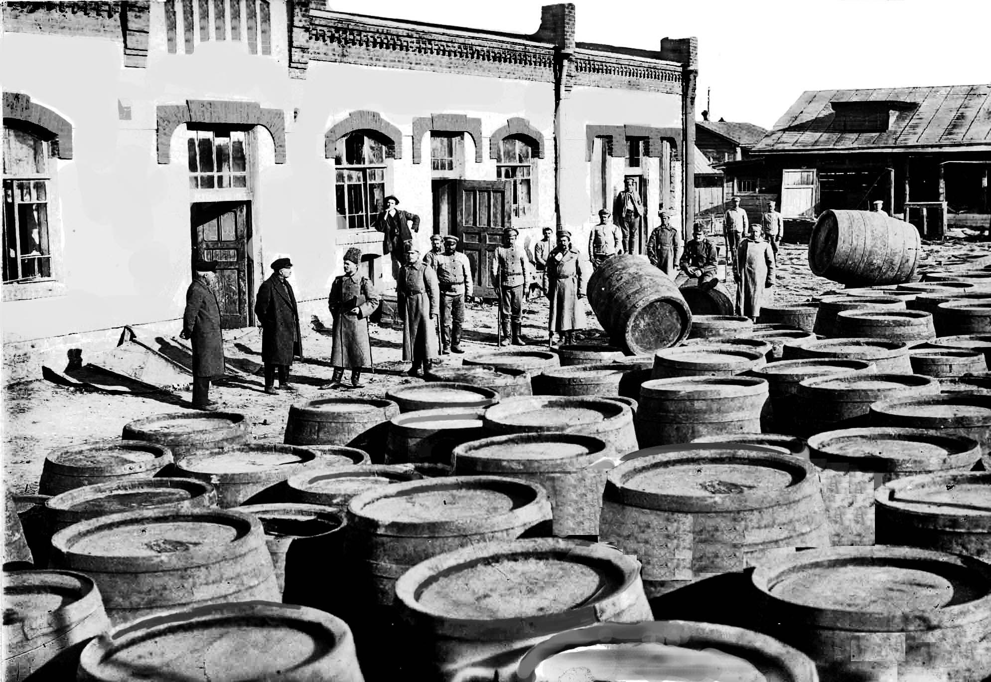 Водочный завод после пожара 1917 г.