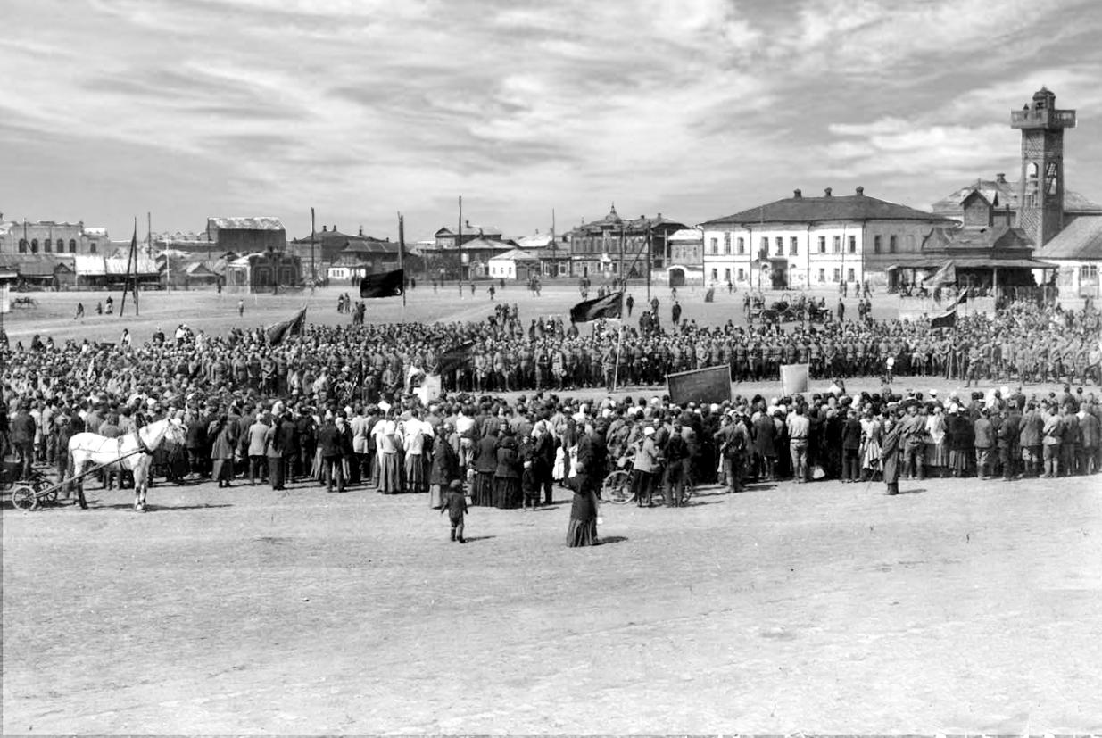 Молебен перед отправкой на фронт 1914 год