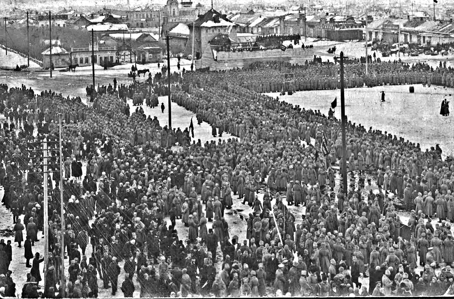 Город Николаевск, февраль 1917 года