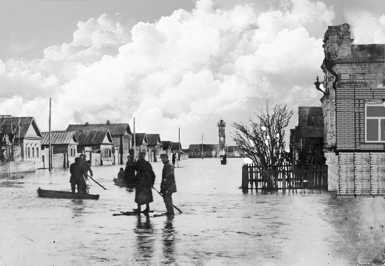 г. Пугачев. Наводнение
