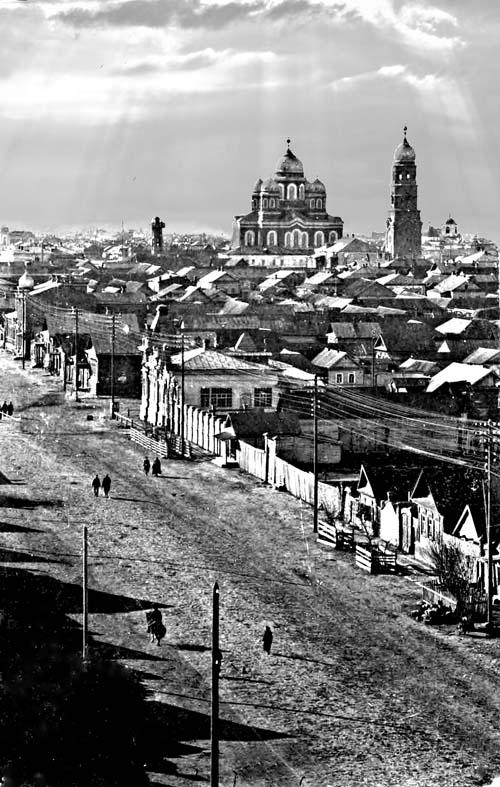 Николаевск, 1917 год, ул. Николаевская Снимок сделан с водонапорной башни.