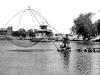 1956 год, плотина, рыбак с
