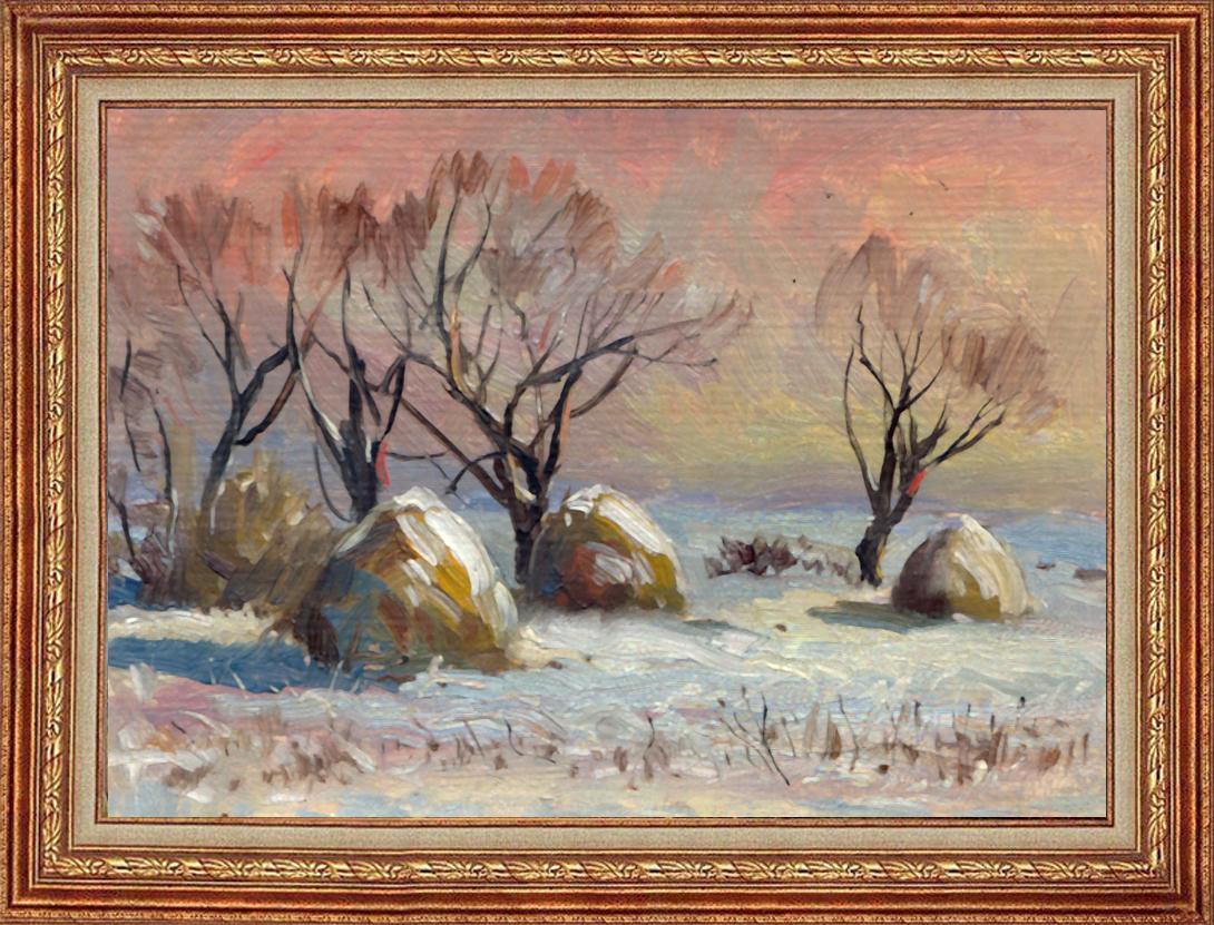 Г.А. Богословский. Зимние стога. 1995 г.
