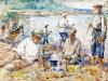 П. Лебедев. Рыбаки