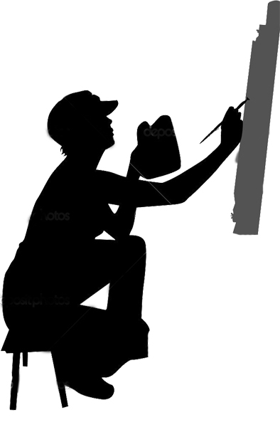 woman painting a picture