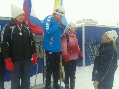 На пьедестале справа Серебрякова Ирина