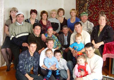 семейное фото Бахтеевых.