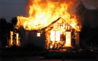 Огонь уничтожил объекты недвижимости
