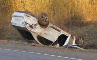 Под Пугачевом перевернулся автомобиль. Погиб мужчина и пострадали дети
