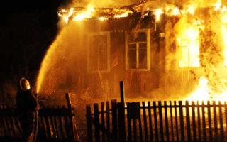 Сгорел в собственном доме
