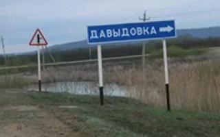 В Давыдовке возмущенные жители  вышли на улицу