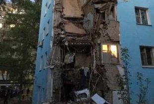 В Саратове рухнула часть дома, об аварийном состоянии которого писали президенту