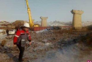 На строительстве моста через Камелик завершили работы по устройству свайных фундаментов