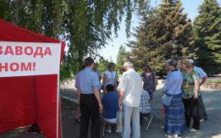 На пикете в Пугачеве собрали более 2000 подписей против завода в Горном