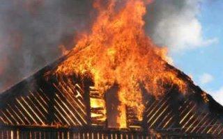 В Пугачеве в огне пожара  погиб местный житель