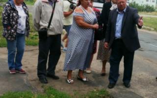 В Пугачеве тротуар у школы не попал в проект В. Володина?