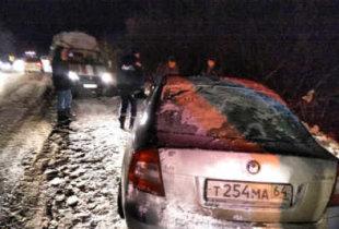 Под Пугачевом вылетел в кювет автомобиль. Пострадали дети