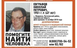 В Пугачевском районе пропал пенсионер