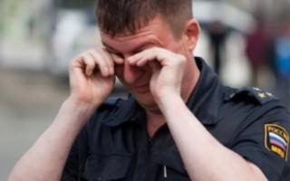 Полицейский получил черенком лопаты по голове