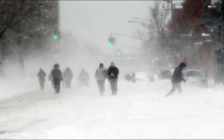 Снег, туман и небольшие метели