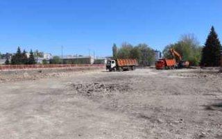 Реконструкция Соборной площади в Пугачеве идет с отставанием графика