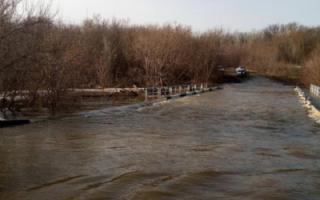 В Ивантеевском районе затопило мост