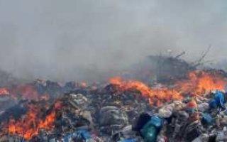 В Пугачеве горит свалка