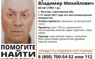 В Пугачеве пропал 60-летний мужчина