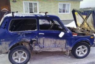Житель Пугачева пострадал в столкновении двух «Нив»