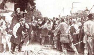 Сход крестьян в имении графа Воронцова-Дашкова