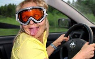Ручное управление и дама за рулем