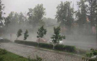 В области ожидаются грозы и ураганный ветер