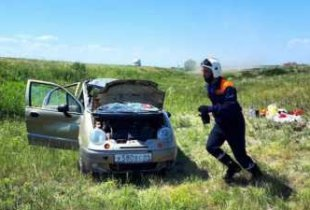 Под Пугачевом разбился Matiz. Пострадали дети