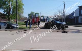 ДТП в Пугачеве. Пострадали шесть человек
