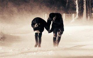 Снегопад, порывы ветра и метель