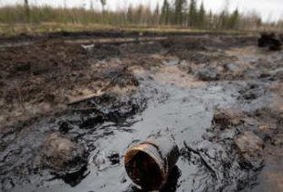 Разлив нефти под городом атомщиков