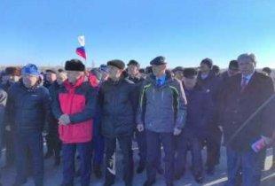 Открытие моста. Глава района М. Садчиков поделился счастьем