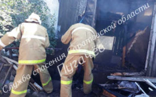 Серьезный пожар в Пугачеве. Спасатели винят жителей