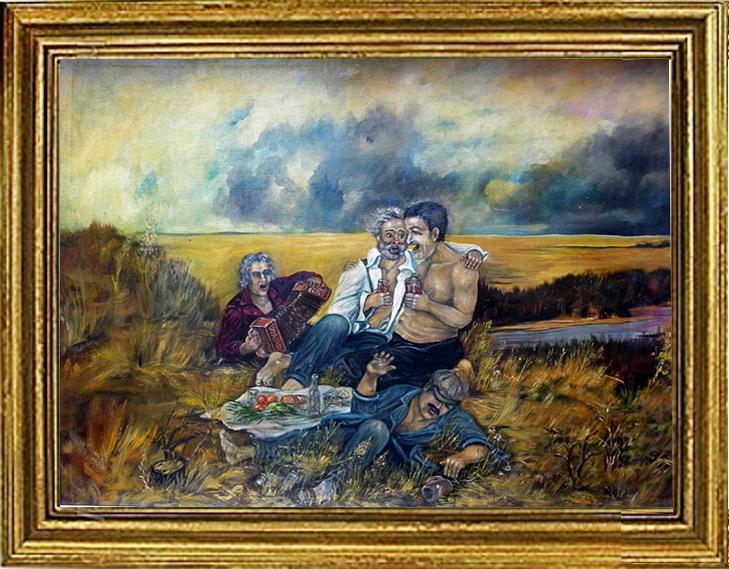 Компания на берегу Иргиза