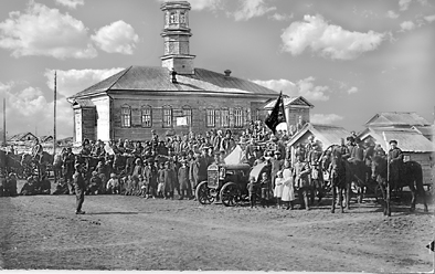 Колхоз Ялкун перед выездом на посев. 1929 г.