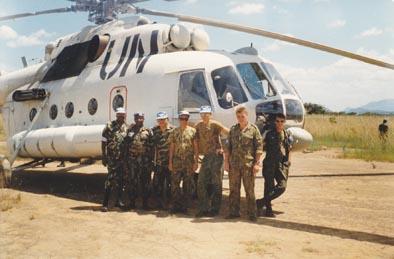 Тяминов в Африке.