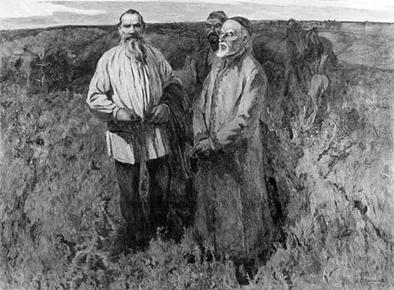 Лев Толстой в башкирской степи
