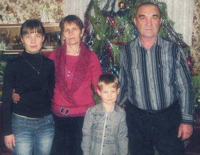 Сказочкины с дочерью и внуком Кириллом..2012